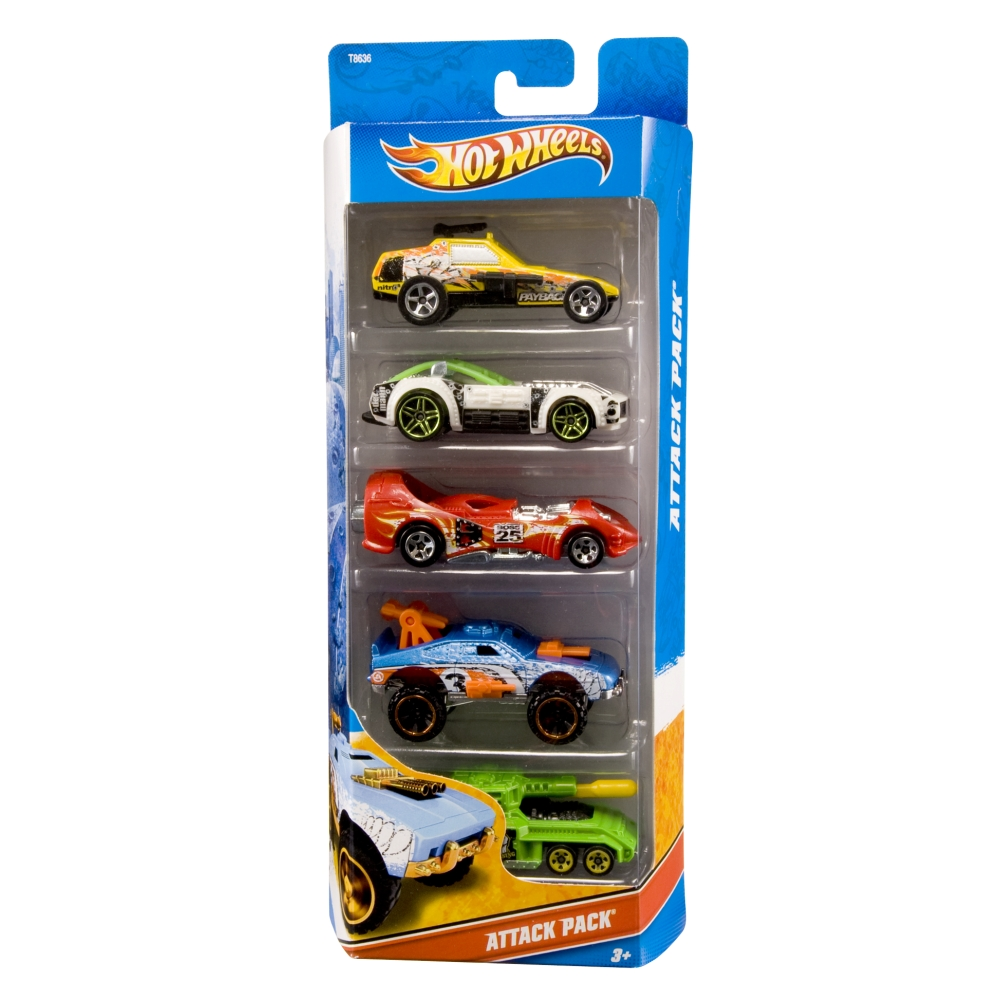 hot wheels casket 5 cars - Voitures Hot Wheels