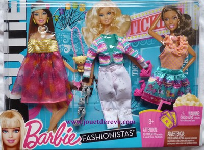 Barbie fashionistas sassy clothes set - Maison de reve barbie ...
