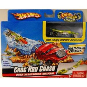 hot wheels color shifters creatures croc rod crash play set - Voitures Hot Wheels