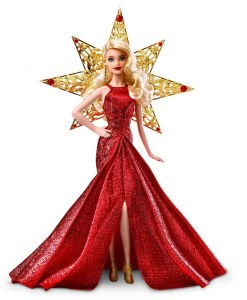 Collector's Barbie - golden Barbie Noel 2017