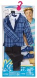 Barbie Clothes for Ken Check Jacket and Black Pants