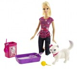 Barbie and her cat Blissa