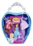 Disney princesses - MAGICLIP mini bag Princess cendrillon and 3 outfits X5110