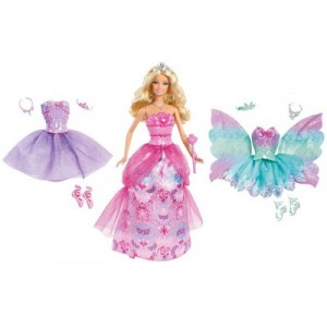 Barbie Box princess outfits and fairy tale W2930