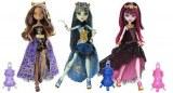 Monster High 13 wishes - 3 doll Clawdeen wolf, Frankie Stein et Draculaura Y7702