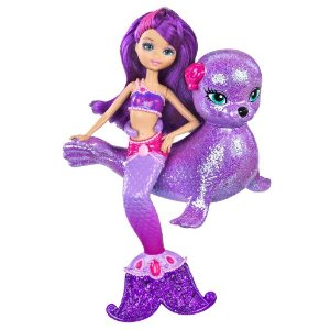 Barbie et le secret des sir nes mini poup e f e et son lion des mers - Barbie sirene couleur ...