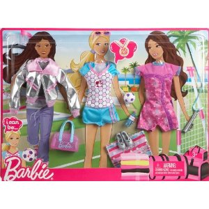 barbie v tement 3 tenues sportives jouet de reve. Black Bedroom Furniture Sets. Home Design Ideas