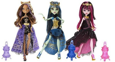 Monster high 13 souhaits 3 poup es clawdeen wolf - Poupee monster high 13 souhaits ...
