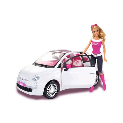 barbie voiture fiat 500 r1623 jouet de reve. Black Bedroom Furniture Sets. Home Design Ideas
