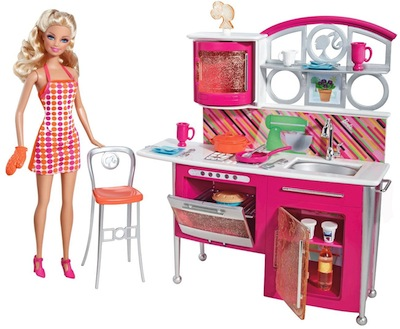 barbie mobilier barbie et ses soeurs cuisine t8014 jouet de reve. Black Bedroom Furniture Sets. Home Design Ideas