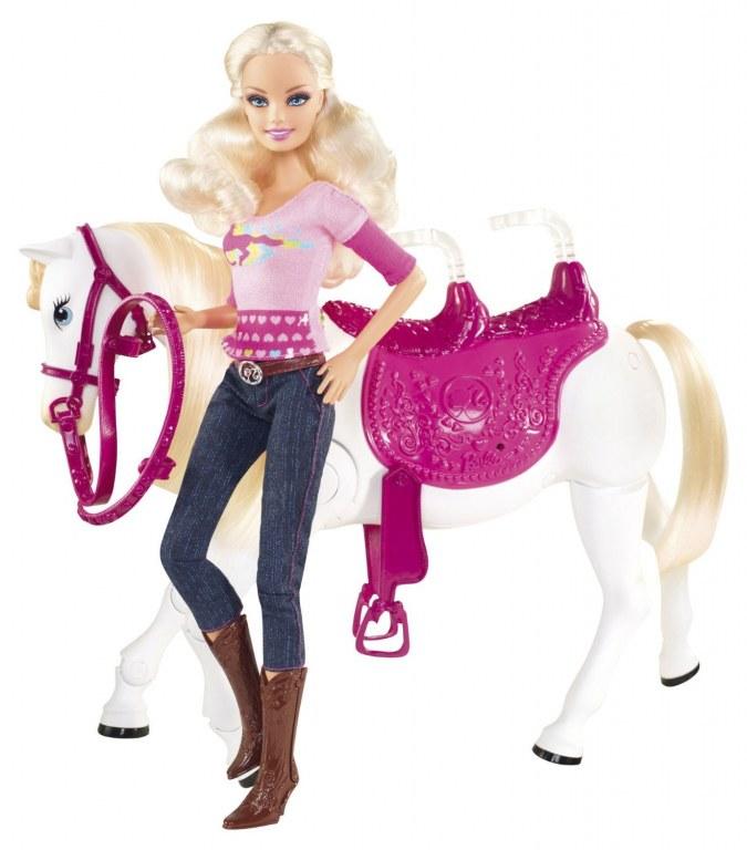 barbie et son cheval trotteur v6984 jouet de reve. Black Bedroom Furniture Sets. Home Design Ideas
