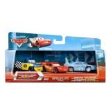 Cars Coffret 3 Vehicules miniatures :  Dexter Hoover / Flash Mc Queen / Le King Endommagé