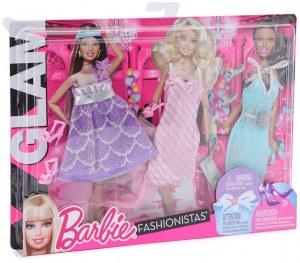 Barbie fashionistas - Vêtements 3 Tenues Glam