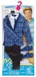 Barbie Vêtement pour Ken Veste à carreux et pantalon noir