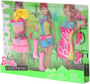 Barbie fashionistas - Vêtements 3 Tenues Sporty