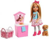 Barbie Chelsea mini poupee animalerie avec friandises FHP67