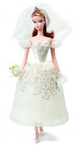 Barbie de collection atelier mariage