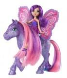 Barbie Mini Fee et son Poney - Pailletée Rose/violet T7471