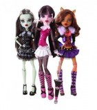 Monster High - 3 Poupées Frankie Stein, draculaura et clawdeen wolf BBC64