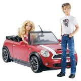 Barbie voiture mini cooper ken W3157