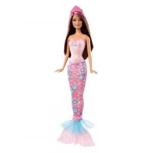 Barbie sirène brune rose X9454