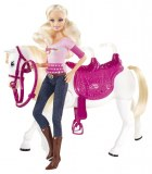 Barbie et son cheval trotteur V6984